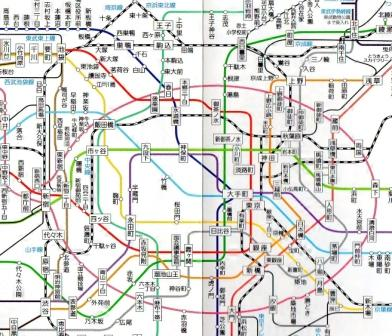 Tokyo Subway Map With Attractions.Subways Tokyo Direct Guide